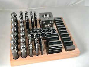 41Pcs Dapping Doming Punch&Block Set Metal Forming Kit Jewelry Making Metalsmith