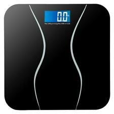400LB Digital Electronic LCD Personal Glass Bathroom Body Weight Scale + Battery