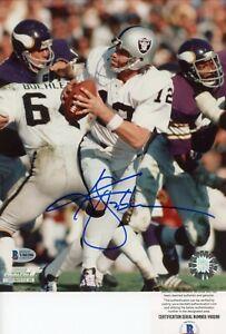 Ken Stabler HOF Oakland Raiders Signed Autographed 8x10 Glossy Photo Beckett BAS