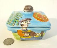 "GIOVANNI DESIMONE Mid Century Italian Art Pottery 3.5"" Jewelry Trinket Box MCM"
