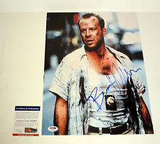 BRUCE WILLIS DIE HARD PULP FICTION SIGNED AUTOGRAPH 11X14 PHOTO PSA/DNA COA