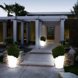 3er Set LED Solar Leuchten Balkon Dekoration Blumen Topf Steh Stand Außen Lampen