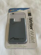 Liqui-Mark iWriter Black Wallet Silicone Holder Case For Any Mobile Device