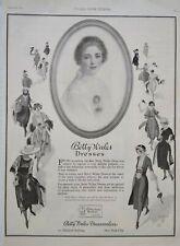 1921 Betty Wales Dresses Womens Fashion Robert Patterson Art NYC Vtg Print Ad