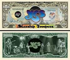 YES - BILLET 1 MILLION DOLLAR US ! Collection Rock Prog Chris Squire Roger Dean
