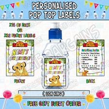 Personalised Pop Top Sticker Labels - The Lion King - x32 Large Labels