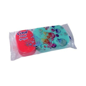 Coral 3 Pack Oval Bath Sponges - Soft And Gentle - Bath,Shower,Clean.