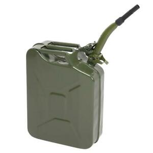 20L Jerry Can Green Steel Gasoline Gas Fuel Tank Emergency Container Army Green