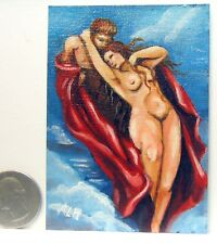 Loves Ascension  ACEO miniature Oil Painting by Amando LaVann
