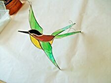 More details for stained glass handmade swallow, swift's sun-catcher's / window decoration's