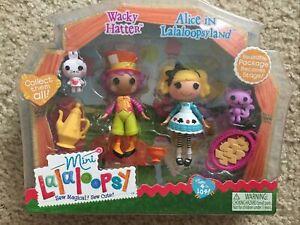 Mini Lalaloopsy Doll Set - Alice in Wonderland & Wacky Hatter - NEW - RARE - NIP