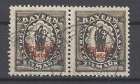 Dt. Reich Mi.Nr. 133II, 2 1-2 Mark 1920 gestempeltes Paar, geprüft BPP (28777)
