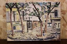 Dipinto / quadro olio su tela veduta cittadina XX sec painting oil on canvas