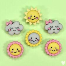 Dress It up Buttons Hello Sunshine 10403 - Flowers Unicorn Fairies Clouds Sun
