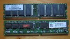 Two 256MB DDR RAM - 512MB Total - Kingston and Nanya