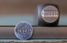 """SUPPLY GUY 10mm """"Cowgirl"""" Word Metal Punch Design Stamp SGCH-88"""