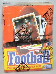 1988 TOPPS FOOTBALL UNOPENED X-OUT BOX BBCE WRAPPED BO JACKSON ROOKIE YEAR