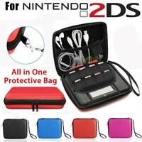 For Nintendo 2DS EVA Hard Carrying Case Handle Bag Cover with Mesh Pocket +Strap