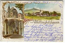 AK Lith. Wellingholzhausen bei Osnabrück  Kirche 1901
