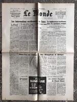 N68 La Une Du Journal Le Monde 22 Mai 1978