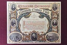 John Wesley Methodist Certificate - Printed by Hazell, Watson, & Viney