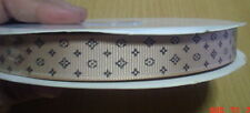 "5 yds tan Grosgrain ribbon LV 15 mm (5/8"")"
