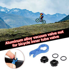 Bicycle Presta Valve Nut With Tool Bike MTB Valve Fixed Nut Washer France Tire*