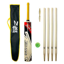 ZEEPK COMPLETE CRICKET KIT FOR KIDS AGE 9-14 YEARS KASHMIR WILLOW BAT + WICKETS