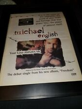 Michael English Your Love Amazes Me Rare Original Radio Promo Poster Ad Framed!