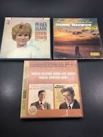 Petula Clark Dionne Warwick Wayne Newton Reel To Reel Tapes Untested