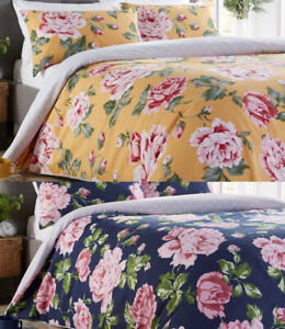 Floral Design Duvet Cover with Pillow Case Bedding Set All Sizes Available