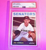 1964 Topps #261 Jim Hannan Senators PSA 7 NM NrMt