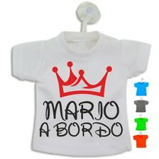 Bebé a Bordo Nombre Niño Personalizado Mini Camiseta 11x13,5 cm con Ventosa