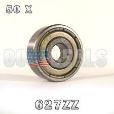 627Z 627ZZ 627 Z 627 ZZ Deep Groove Ball Bearing 7mm x 22mm x 7mm 50 Pcs