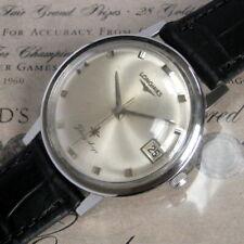 Mens NICE Original 1966 Longines FLAGSHIP Vintage S/S Date 17 Jewel Swiss Watch