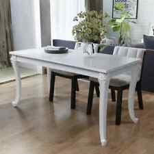 vidaXL Table de salle à manger Table de cuisine Multi-Taille Laquée Blanc