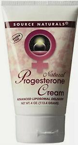 Source Naturals Natural Progesterone Cream, 4Oz  112gm, Hormonal Balance, Tube.