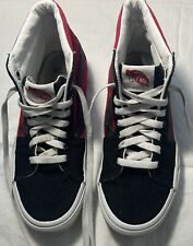 Women's VANS Red/Black High Tops Shoes Size 7.5 FREE SHIPPING