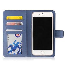 Etui  portefeuille universel en cuir bleu pour  smartphone Apple iPhone 6 /6s