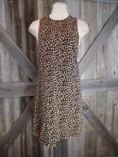 AMERICAN APPAREL Womens Small Animal Print Sleeveless 100% Cotton Mini Dress K