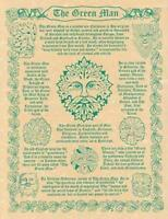 Green Man Parchment Page for Book of Shadows, Altar!