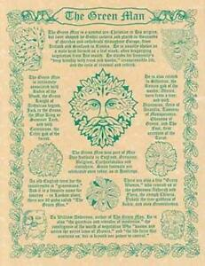 Green Man Parchment-Like Page for Book of Shadows, Altar!