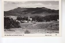 Jary Real Photo Postcard Mount Mansfield and Underhill Center  VT  70