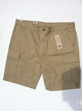 Big & Tall Levi's Men's Carrier Cargo Shorts Size 44 tan/beige new NWT $60