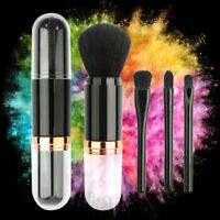 4 in 1 Retractable Makeup Cosmetic Face Powder Blush Brush Foundation Brushes