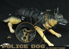 German Shepherd Dog K9 Police Dog Movable Head With Black Waistcoat 1/6 Figure