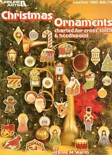 Christmas Ornaments - Vintage Leisure Arts Booklet - Cross Stitch/Needlepoint