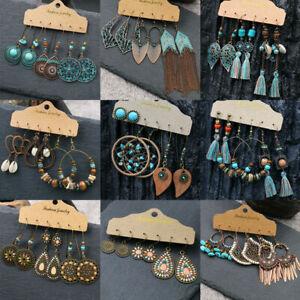Fashion Boho Gypsy Tribal Ethnic Earrings Set Drop Dangle Festival Women Party