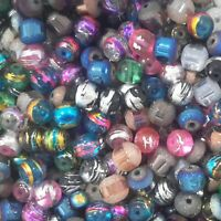 Mixed Size & Colour Glass Beads,  140pce, Free Postage Oz Seller.