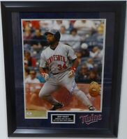 Kirby Puckett Autographed Signed Framed 16x20 Photo Twins PSA/DNA #64490